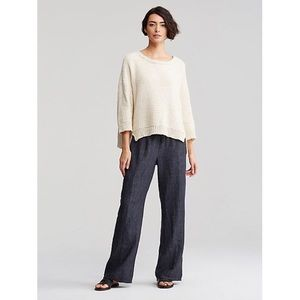 Eileen Fisher wide leg linen delave pant relaxed